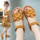 女童涼鞋 女童涼鞋新款時尚夏季中大童女生公主鞋小女孩子軟底沙灘鞋子-Ballet朵朵