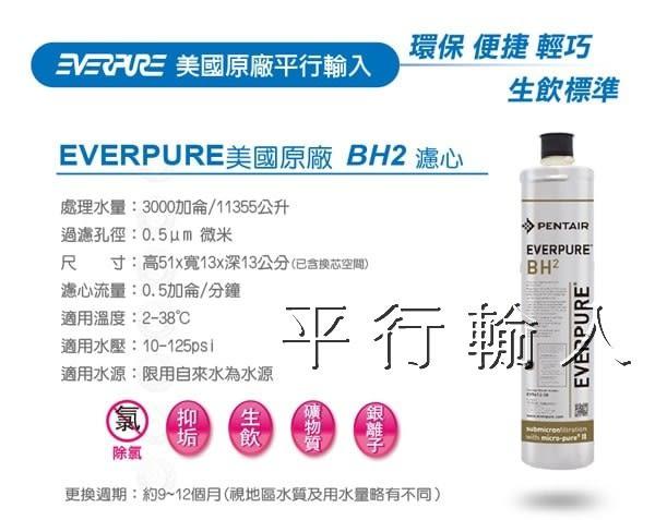 台灣愛惠浦 Everpure 公司貨 BH2 濾芯(平行輸入)