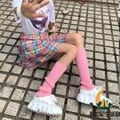 日系襪子女小腿套堆堆襪lolita原宿風長筒大象針織襪套【創世紀生活館】