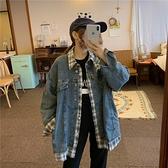 牛仔外套 牛仔外套女裝2020新款韓版寬松春秋裝bf風假兩件棒球服上衣ins潮
