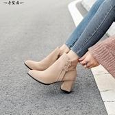 粗跟馬丁靴女2018新款網紅短靴女靴子冬鞋女雪地靴女棉鞋女冬加絨