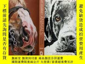 二手書博民逛書店英文原版罕見art journey animals a collection of inspiring conte
