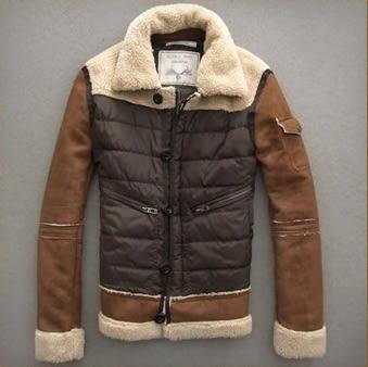 夾克外套-麂皮羊羔毛修身保暖男皮衣外套9e4【巴黎精品】