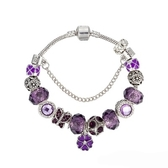 串珠手環-紫色系列時尚精美水晶飾品女配件73kc10【時尚巴黎】