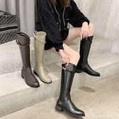 膝上靴 騎士靴女粗腿高筒大筒圍顯瘦長靴新款網紅爆款不過膝長筒靴子 城市科技