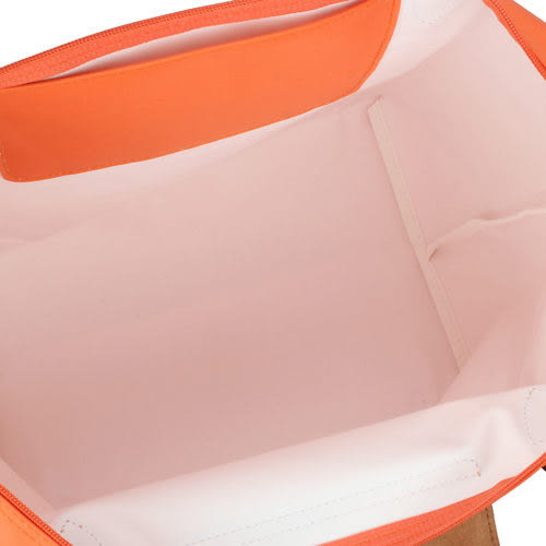 LONGCHAMP摺疊水餃包S長帶 亮橘色  肩背水餃包(小款)~現貨特價