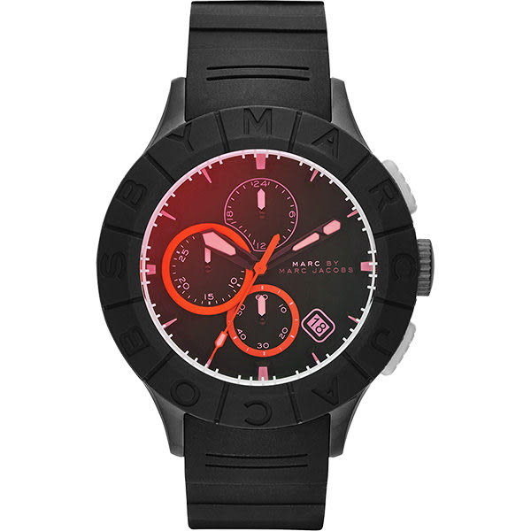 Marc by Marc Jacobs Buzz 極限運動計時腕錶-黑/44mm MBM5546