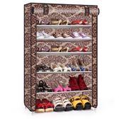 鞋櫃(六層)-簡易DIY單排加厚帆布鞋架6色73fu9[時尚巴黎]