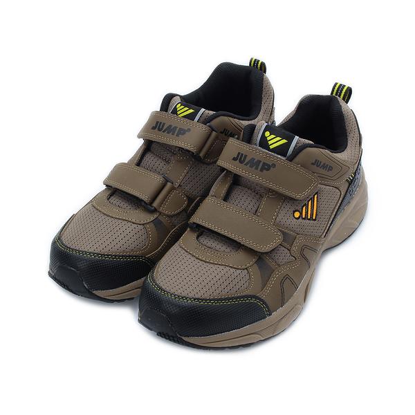JUMP 862 雙魔鬼氈運動鞋 棕 JM861 男鞋