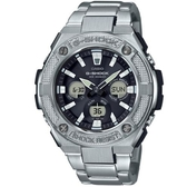 【CASIO】 G-SHOCK 太陽能三眼不鏽鋼錶-黑面(GST-S330D-1A)