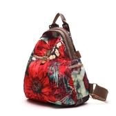 韓版百搭牛津布後背包女新款休閒旅行女士背包大容量旅行包   卡布奇諾