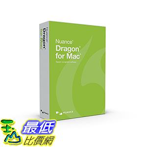 [106美國直購] 2017美國暢銷軟體 Nuance Communications Dragon for MAC 5.0, US ENGLISH [OLD VERSION]