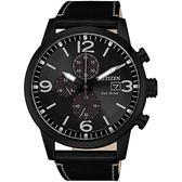 【滿額贈電影票】CITIZEN 時尚簡約三眼計時腕錶/黑 CA0617-29E 光動能 Eco-Drive 熱賣中!