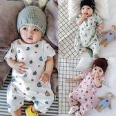 嬰兒連身衣寶寶短袖包屁衣新生滿月爬服01歲哈衣3-6-12個月 童趣潮品