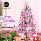 摩達客耶誕-4尺/4呎(120cm)特仕幸福型裝飾綠色聖誕樹 (浪漫粉紅佳人系)含全套飾品不含燈