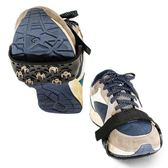 戶外7齒魔術貼簡易城市冰爪登山鞋釘防滑鞋套輕便冰雪地鋼爪  全館免運