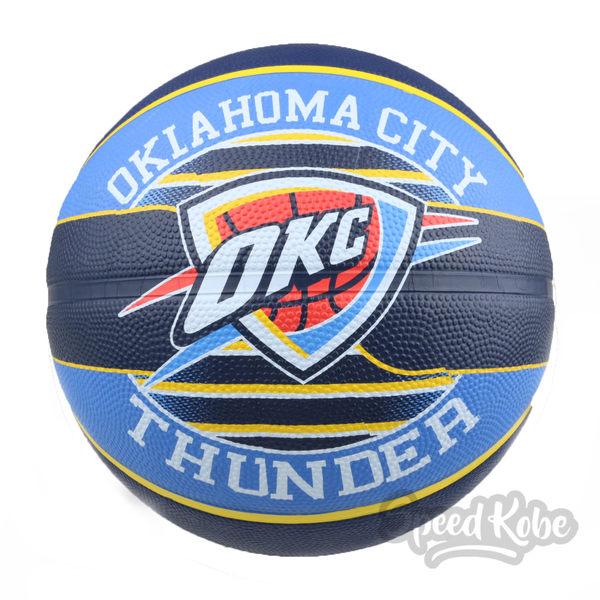 SPALDING 籃球 NBA 新款 隊徽球 雷霆 藍黃 7號球 SPA83513【Speedkobe】