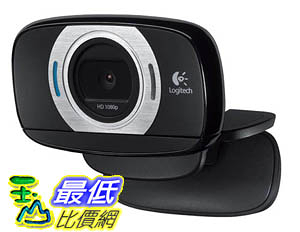 [106美國直購] Logitech HD Laptop Webcam C615 with Fold-and-Go Design, 360-Degree Swivel, 1080p Camera