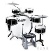大號架子鼓兒童初學者爵士鼓玩具打鼓樂器1-3-6歲男孩敲打鼓禮物 aj7193『黑色妹妹』