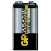 GP 超霸 (黑)超級環保碳鋅電池  9V 1入