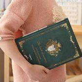 手帳本 歐式復古日記本創意彩頁插畫手繪記事本B5大號加厚筆記本文具本子 聖誕交換禮物