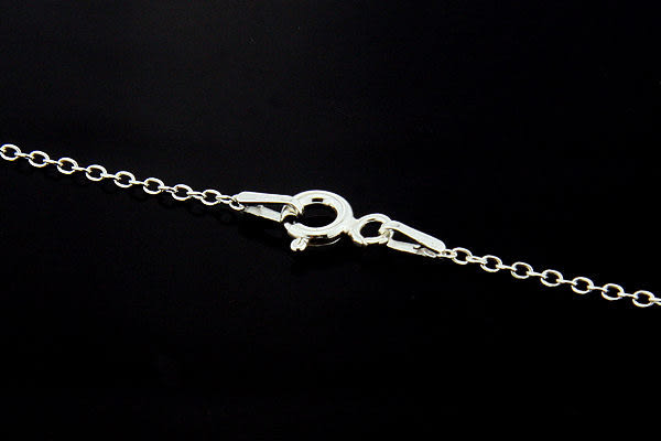 義大利進口925銀項鍊,16吋基本款繩索單鍊 (cable chain),DeeDee Jewellery 生日禮物、七夕情人節禮物