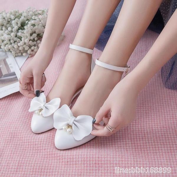 女童涼鞋 新款韓版夏天中大童兒童高跟鞋女童涼鞋女孩小學生包頭公主鞋 城市科技