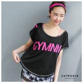 Catworld GYMNN吸濕排汗短版T【11406299】‧S/M/L 特價