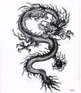 薇嘉雅 龍 大圖經典圖案紋身貼紙 (MQC04)