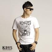 【BTIS】三眼狼 圓領T-shirt  / 白色