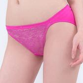 思薇爾-慕戀系列M-XL蕾絲低腰三角內褲(甜桃粉)