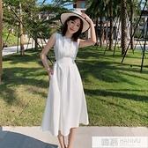 白色洋裝2020新款夏季法式復古收腰a字高冷御姐風成熟裙子氣質 夏季新品