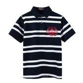 『小鱷魚童裝』高爾夫條紋POLO衫(08號~20號)533101