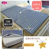 純棉/涼爽/亞藤席床墊(6*6.2尺) 4.5CM /加大/攜帶型床墊(可拆洗)免用床包,省錢又方便。