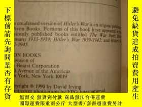 二手書博民逛書店Hitler s罕見warY475 david drving