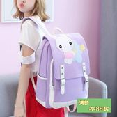 小學生書包女孩4-6年級韓版校園小清新可愛兔子少女心帆布後背包