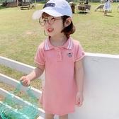 兒童連身裙 女童連身裙夏裝2020新款女孩公主童裝兒童裙子中大童洋氣Polo衫裙 小宅女