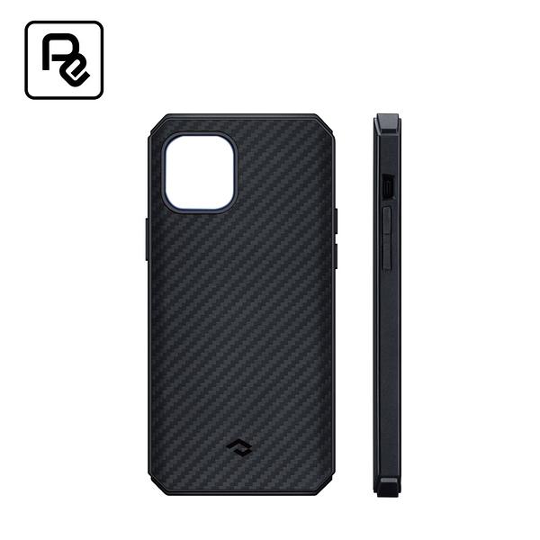 【PITAKA】MagEZ CasePro II iPhone12 ProMax 航太纖維軍規磁吸手機殼-黑