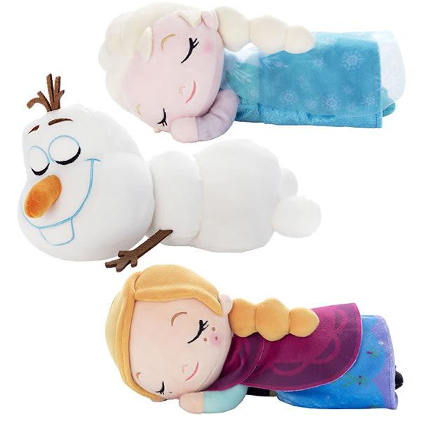 冰雪奇緣 睡覺娃娃 艾莎 安娜 雪寶 迪士尼 新品 超柔軟 Disney 日本正版 該該貝比日本精品 ☆