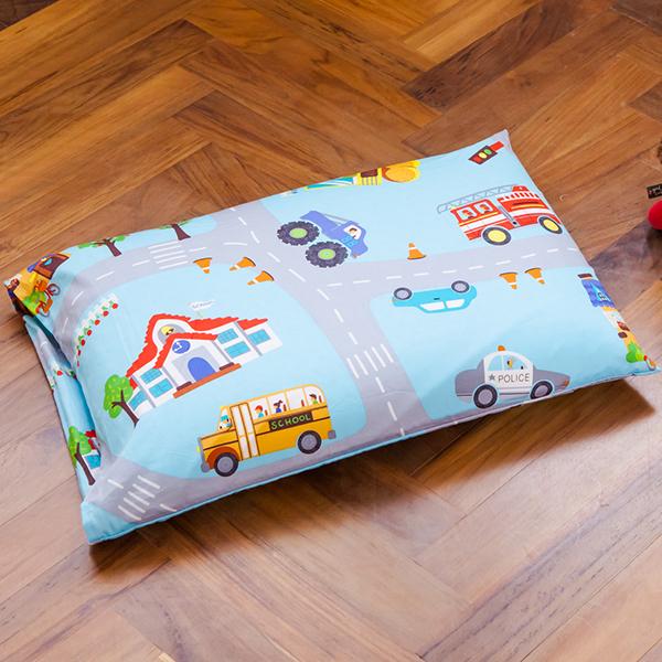 鴻宇 兒童乳膠枕 防蹣抗菌 交通樂園 美國棉授權品牌 台灣製1778