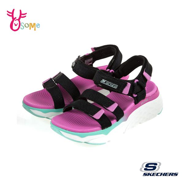 Skechers涼鞋 女涼鞋 運動涼鞋 ON-THE-GO 健走涼鞋 柔軟Q彈 T8299#黑粉◆OSOME奧森鞋業