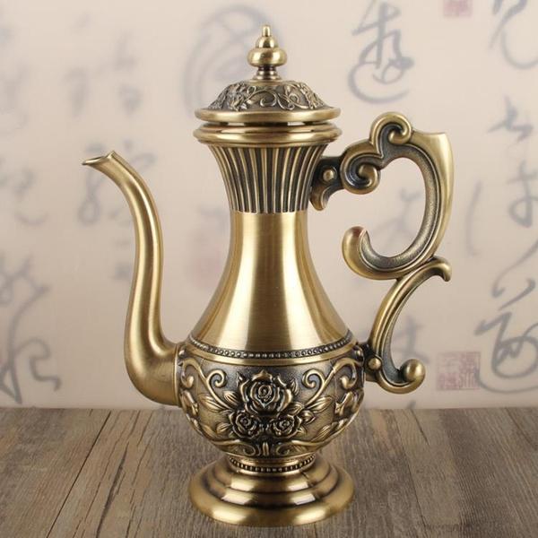 中式小酒壺仿古白酒分酒器家用個性輕奢青銅酒具酒壺半斤裝250ml1入