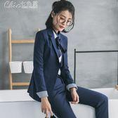 西裝 春秋時尚女士職業套裝西裝面試西服正裝OL氣質工裝工作服igo「Chic七色堇」