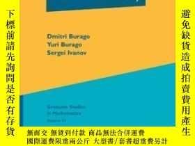 二手書博民逛書店A罕見Course In Metric Geometry-度量幾何課程Y436638 Dmitri Burag