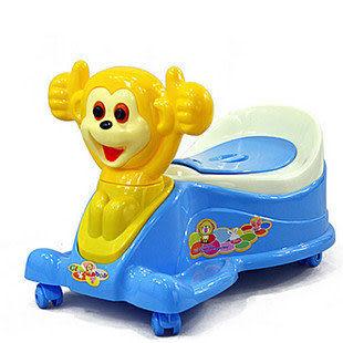 寶寶馬桶帶輪可騎行兩用音樂座便器E00007