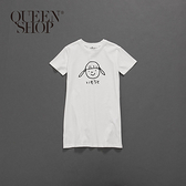 Queen Shop【01084410】童裝 親子系列頭像圖洋裝 S/M/L*現+預*