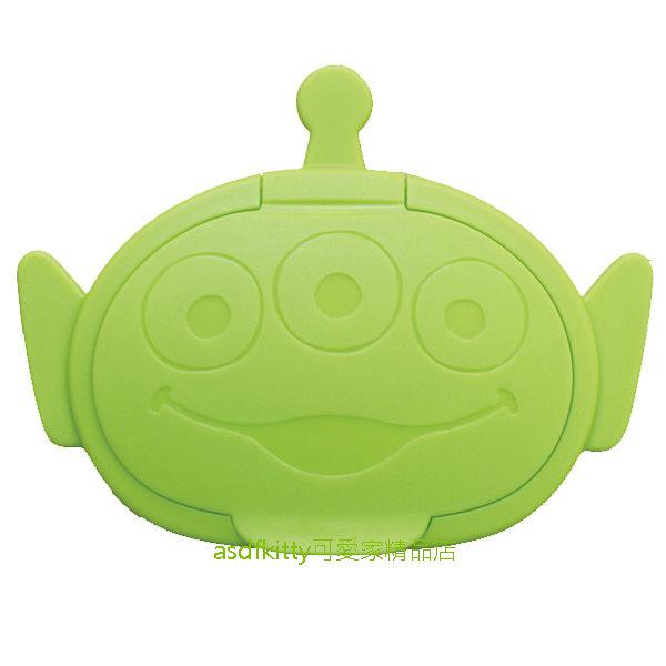 asdfkitty*迪士尼玩具總動員三眼怪頭型濕紙巾蓋-可重複黏貼-隨身包.溼拖巾.廚房油污濕巾.也可使用