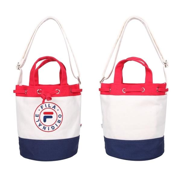 FILA 水桶兩用側背包(帆布 手提包 斜背包 隨身包 肩背包 免運 ≡排汗專家≡