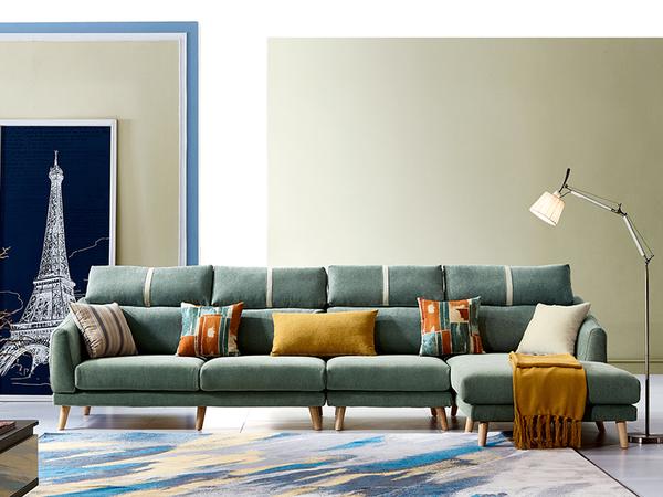 星月L型沙發-尺寸布色可訂製【歐德斯沙發】