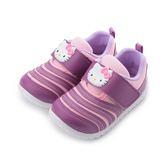 Hello Kitty 毛毛蟲魔鬼氈休閒鞋 紫 718716 中小童鞋 鞋全家福